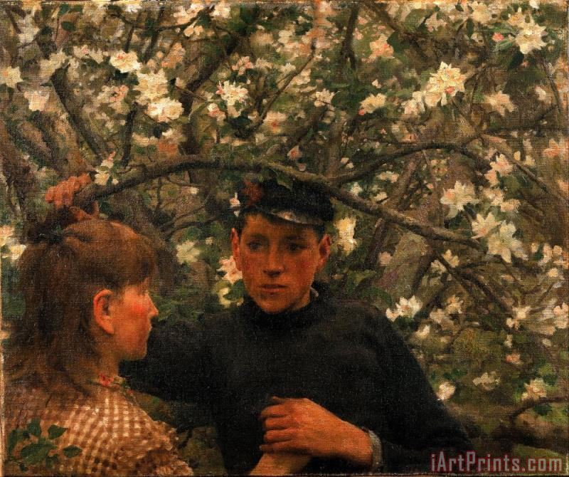 The Promise painting - Henry Scott Tuke The Promise Art Print
