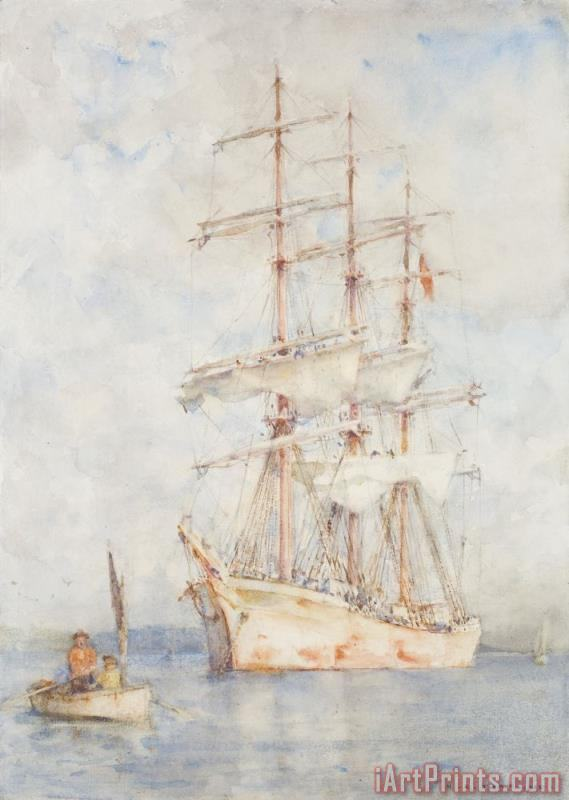 The White Ship painting - Henry Scott Tuke The White Ship Art Print