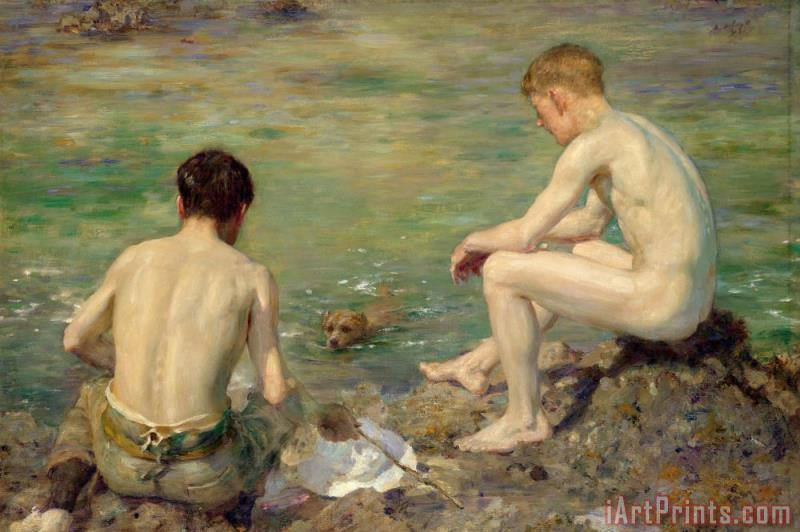 Three Companions painting - Henry Scott Tuke Three Companions Art Print
