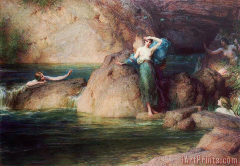 Herbert James Draper Halcyone Art Print