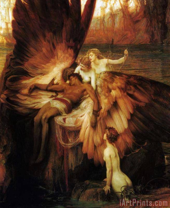 Herbert James Draper Lament for Icarus Art Print