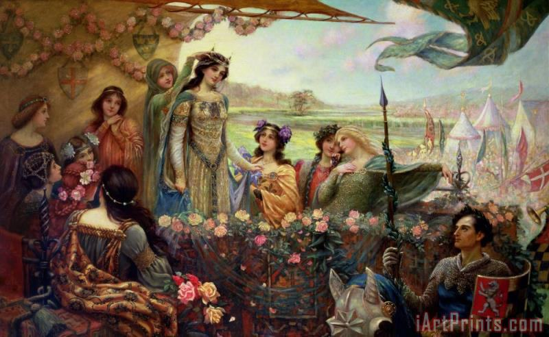 Herbert James Draper Lancelot and Guinevere Art Print