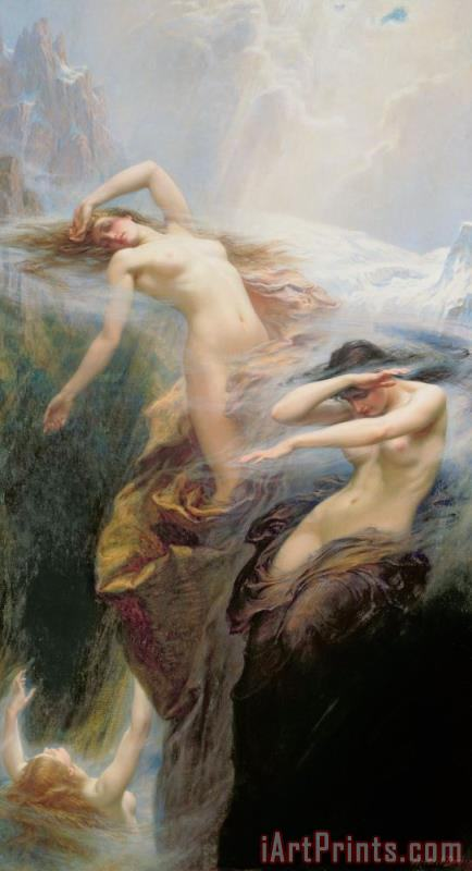 The Mountain Mists painting - Herbert James Draper The Mountain Mists Art Print