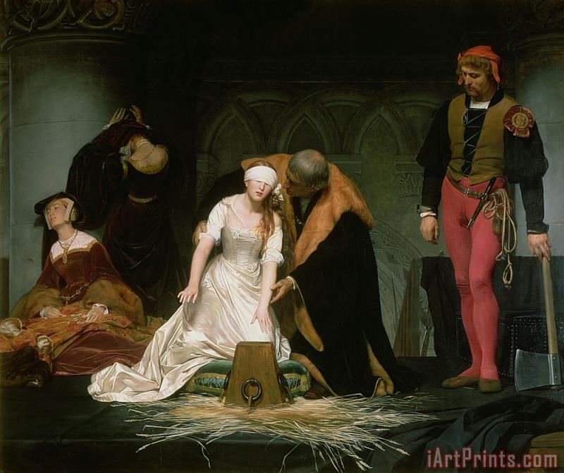The Execution of Lady Jane Grey painting - Hippolyte Delaroche The Execution of Lady Jane Grey Art Print