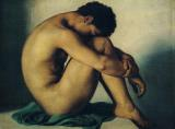 Study of a Nude Young Man by Hippolyte Flandrin