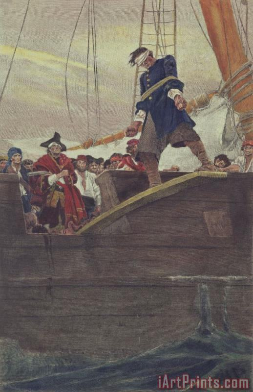Walking the Plank painting - Howard Pyle Walking the Plank Art Print