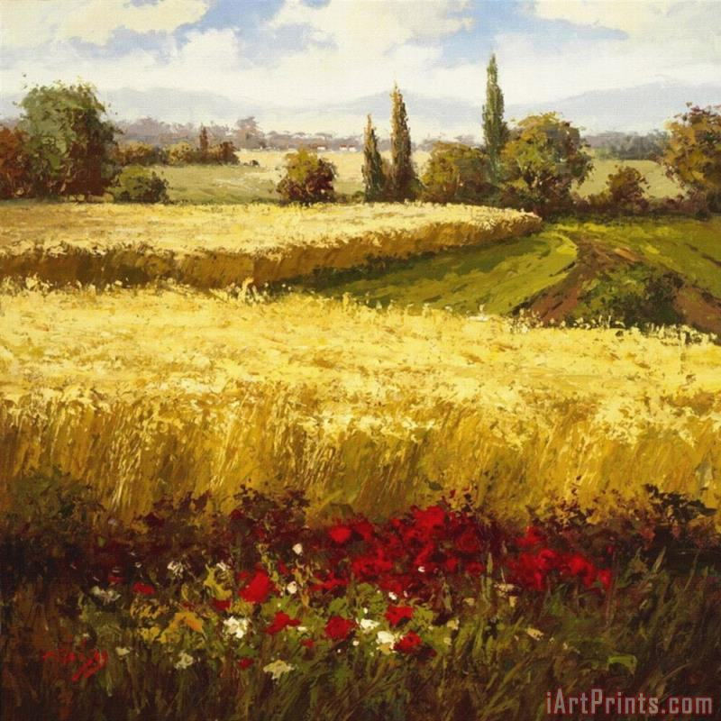 Golden Harvest painting - Hulsey Golden Harvest Art Print