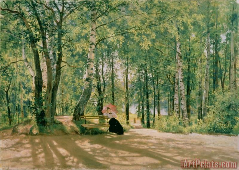 Ivan Ivanovich Shishkin At the Summer Cottage Art Print