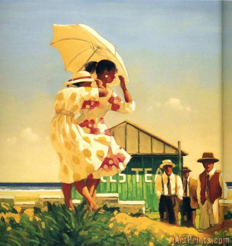 A Very Dangerous Beach painting - Jack Vettriano A Very Dangerous Beach Art Print