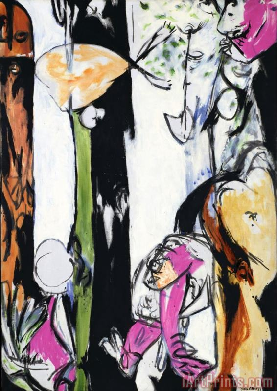 Jackson Pollock Easter And The Totem 1953 Art Print