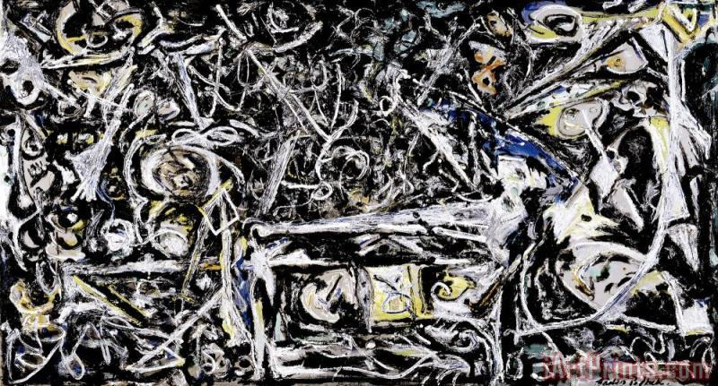 Jackson Pollock Night Mist Art Print