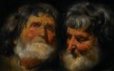 Two Studies Of The Head Of An Old Man by Jacob Jordaens