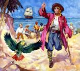 Long John Silver and his Parrot by James McConnell