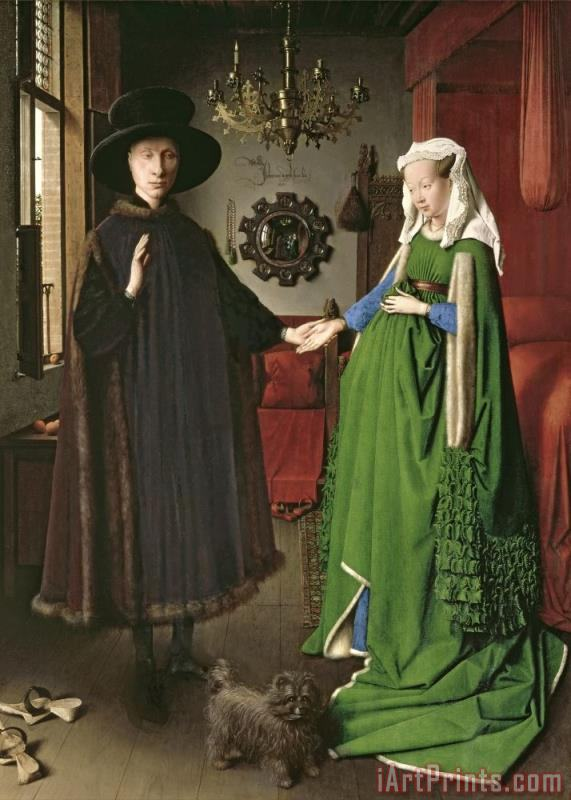 The Arnolfini Marriage painting - Jan van Eyck The Arnolfini Marriage Art Print