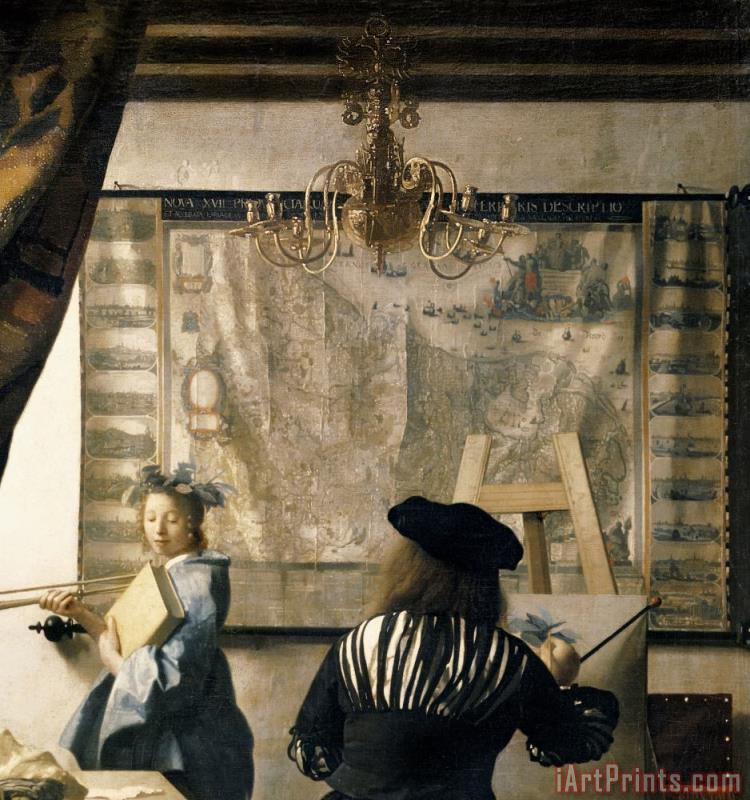 The Artist's Studio painting - Jan Vermeer The Artist's Studio Art Print