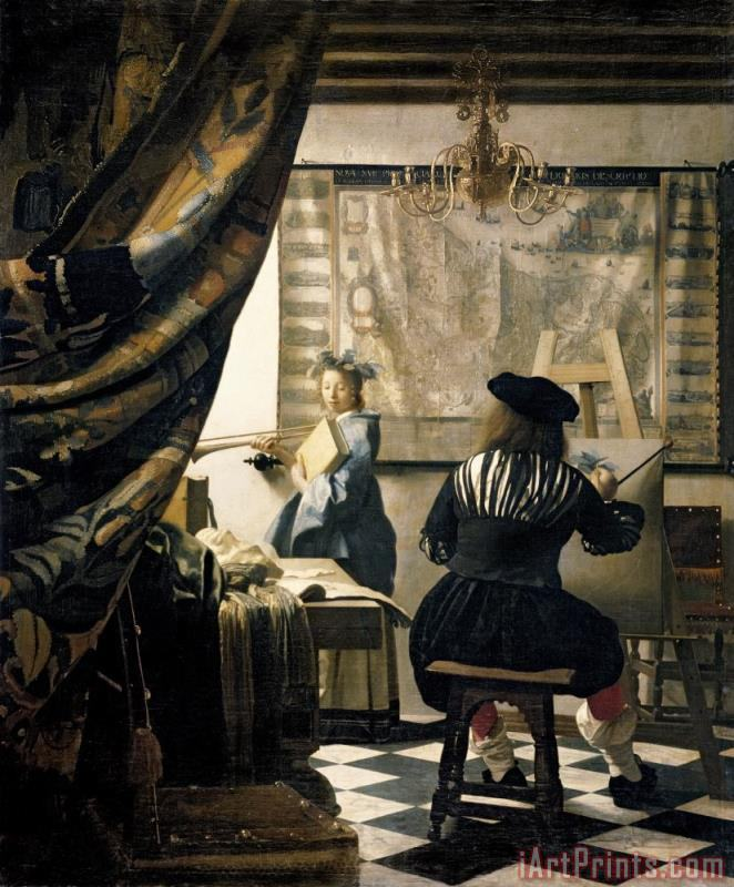 Jan Vermeer The Artist's Studio Art Print