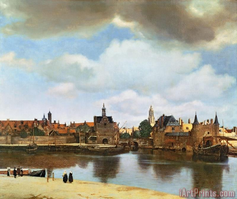 Jan Vermeer View of Delft Art Print
