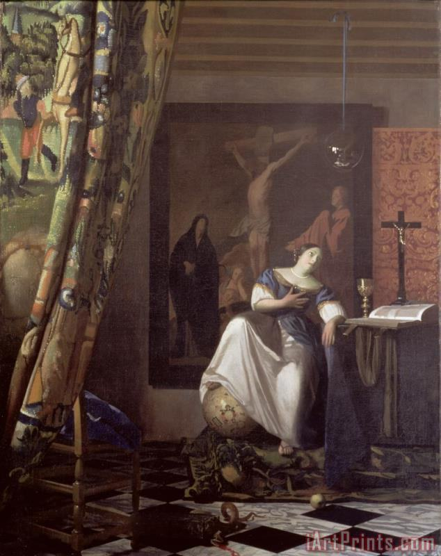 Jan Vermeer Allegory of the Faith Art Print