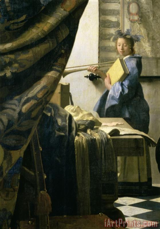 The Artists Studio painting - Jan Vermeer The Artists Studio Art Print