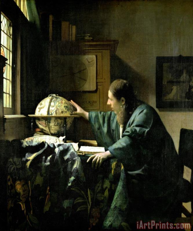 Jan Vermeer The Astronomer Art Print