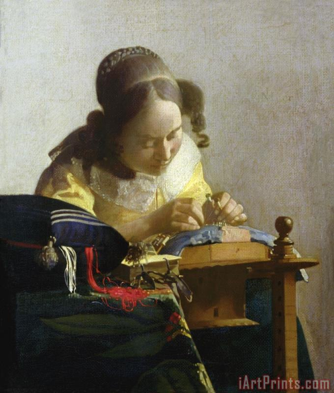 Jan Vermeer The Lacemaker Art Print
