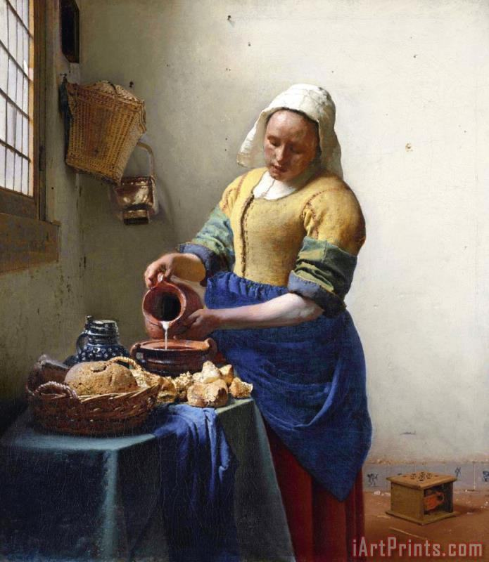 Jan Vermeer The Milkmaid Art Print