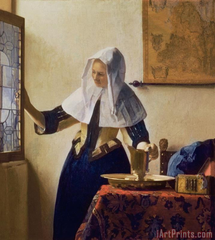 Young Woman with a Water Jug painting - Jan Vermeer Young Woman with a Water Jug Art Print