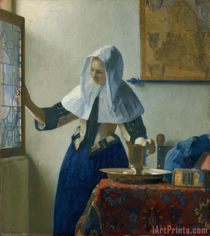 Young Woman with a Water Pitcher painting - Jan Vermeer Young Woman with a Water Pitcher Art Print