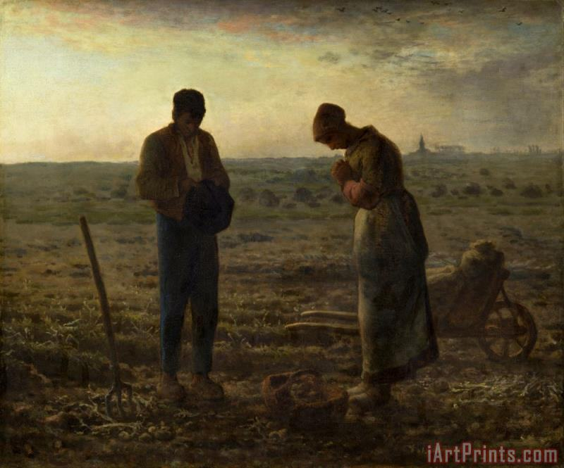 The Angelus painting - Jean-Francois Millet The Angelus Art Print