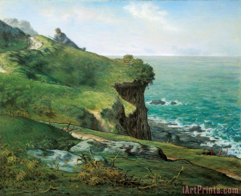 Jean-Francois Millet Cliffs of Greville Art Print
