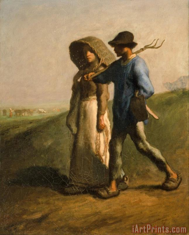Jean-Francois Millet Going to Work Art Print