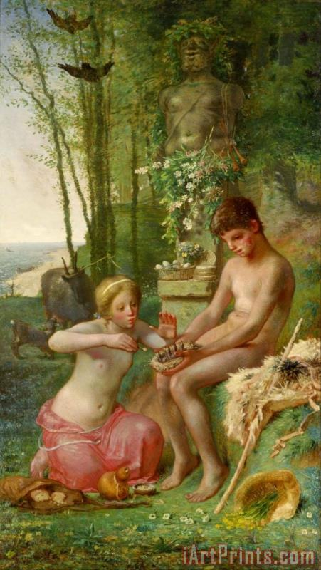 Spring (daphnis And Chloe) painting - Jean-Francois Millet Spring (daphnis And Chloe) Art Print