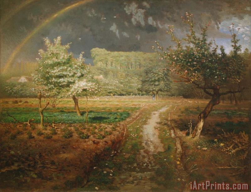 Spring at Barbizon painting - Jean-Francois Millet Spring at Barbizon Art Print