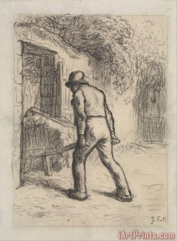 Study for Man with a Wheelbarrow painting - Jean-Francois Millet Study for Man with a Wheelbarrow Art Print