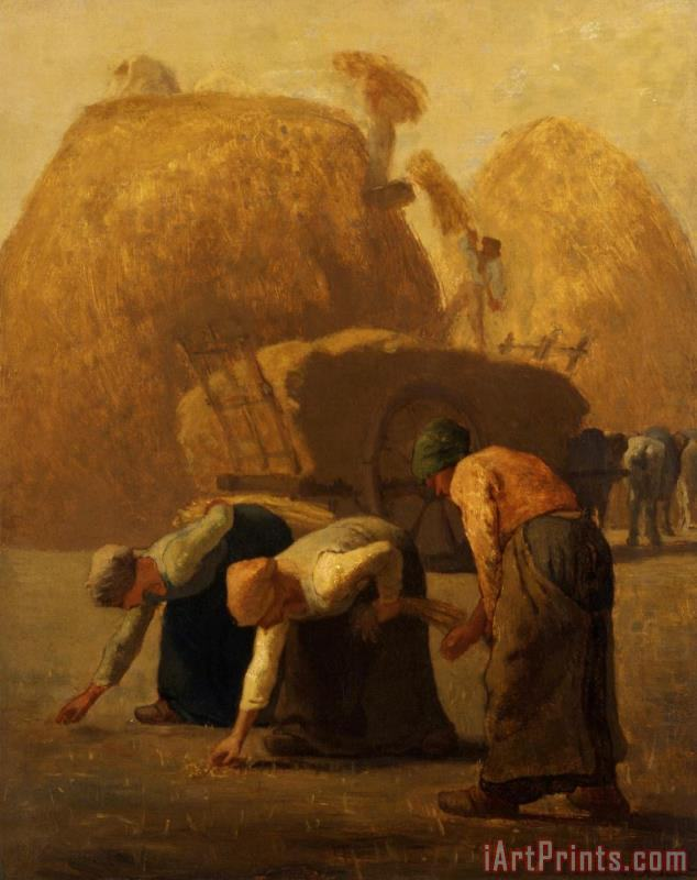 Jean-Francois Millet Summer, The Gleaners Art Print