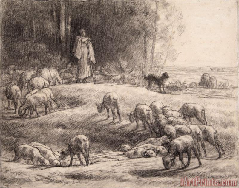 Jean-Francois Millet The Shepherdess Art Print