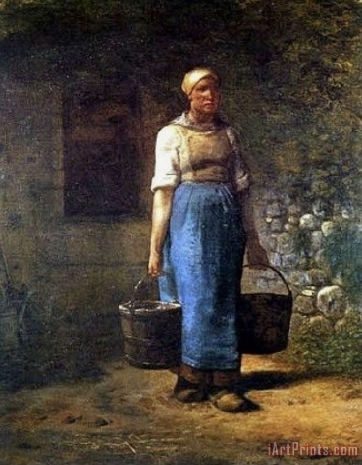 The Water Carrier painting - Jean-Francois Millet The Water Carrier Art Print
