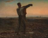 The End Of The Day Effect Of Evening by Jean-Francois Millet