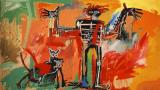 Jean Prints - Boy And Dog in a Johnnypump by Jean-michel Basquiat