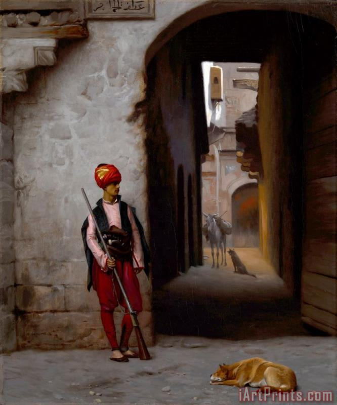 The Guard painting - Jean Leon Gerome The Guard Art Print