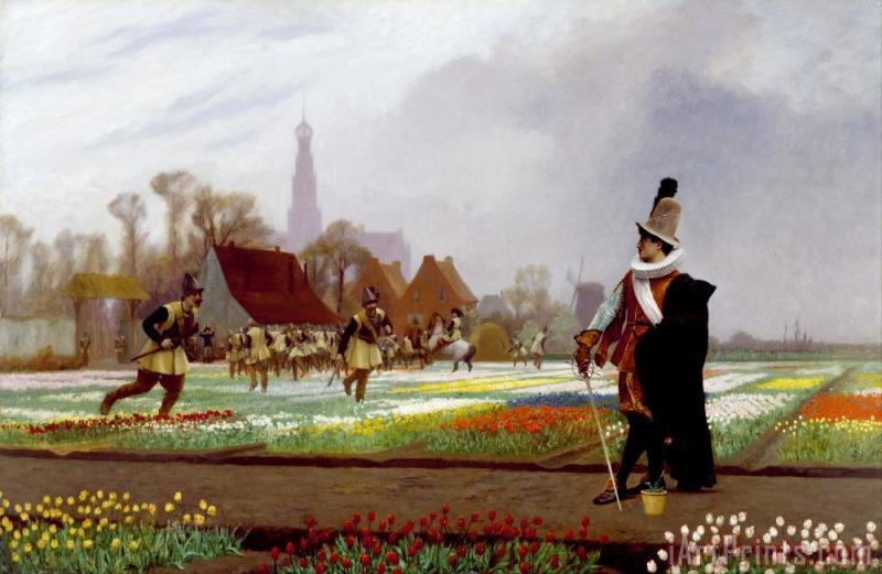 The Tulip Folly painting - Jean Leon Gerome The Tulip Folly Art Print