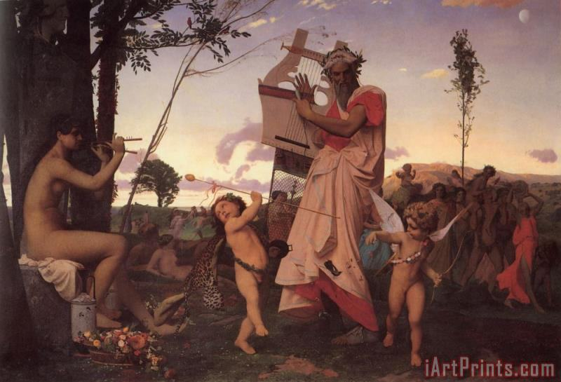 Jean Leon Gerome Bacchus And Cupid Art Print