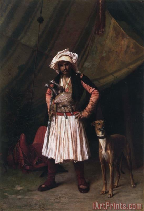 Bashi Bazouk And His Dog painting - Jean Leon Gerome Bashi Bazouk And His Dog Art Print