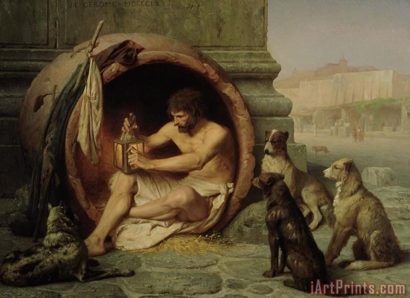 Diogenes painting - Jean Leon Gerome Diogenes Art Print