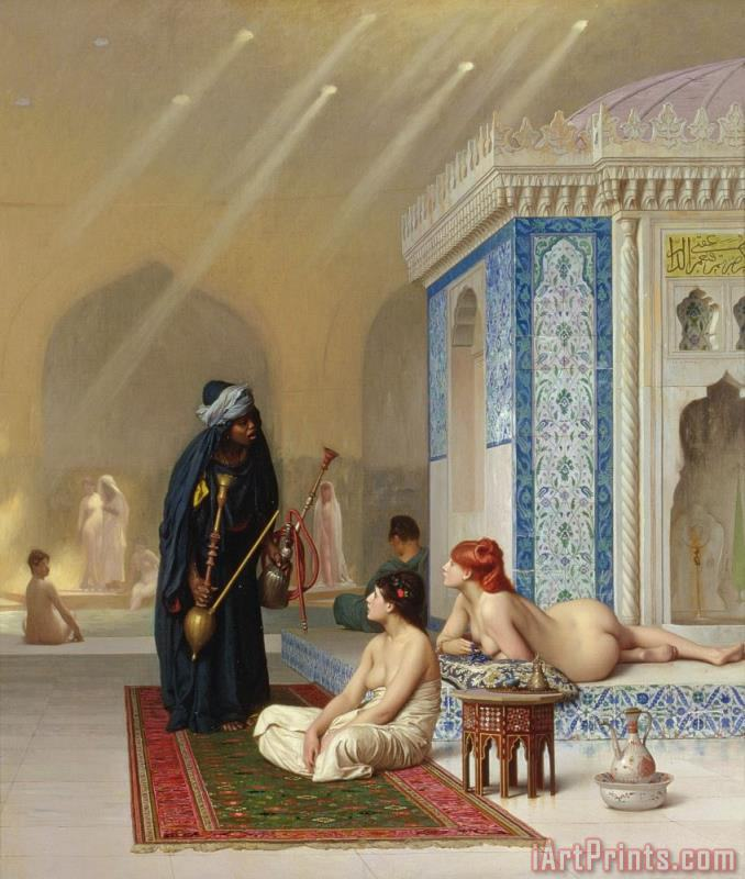 Jean Leon Gerome Pool in a Harem Art Print