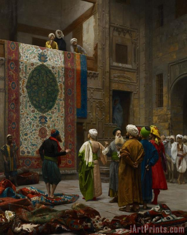 Jean Leon Gerome The Carpet Merchant Art Print