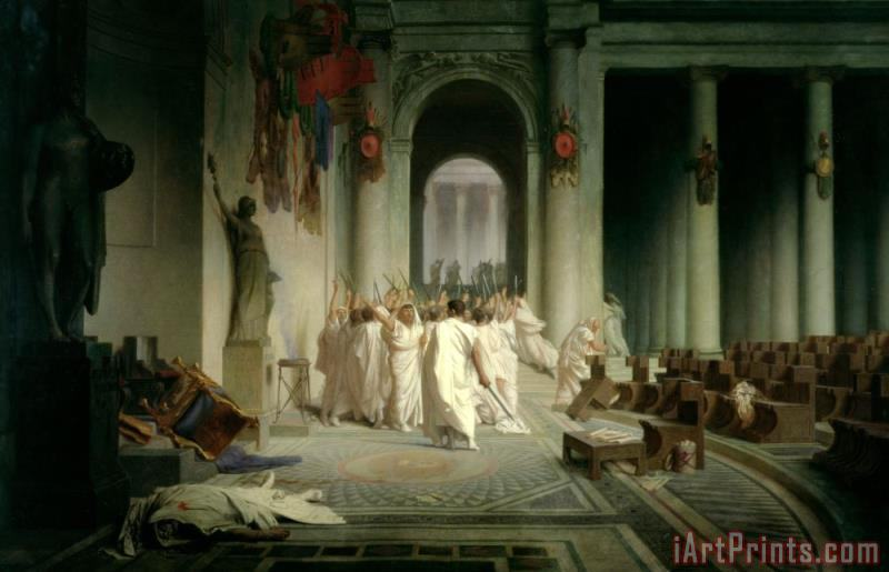 Jean Leon Gerome The Death of Caesar Art Print