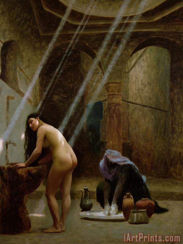 The Moorish Bath painting - Jean Leon Gerome The Moorish Bath Art Print
