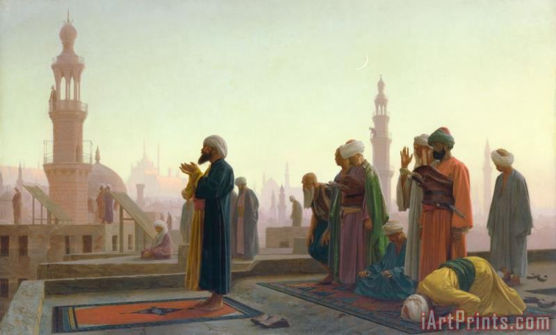 The Prayer painting - Jean Leon Gerome The Prayer Art Print