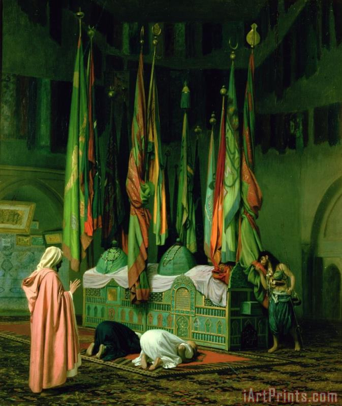 The Shrine of Imam Hussein painting - Jean Leon Gerome The Shrine of Imam Hussein Art Print